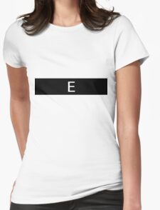 Alphabet Collection - Echo Black Womens Fitted T-Shirt