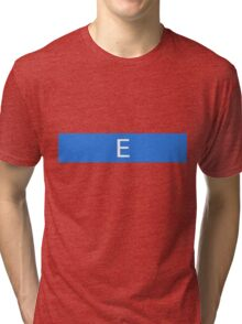 Alphabet Collection - Echo Blue Tri-blend T-Shirt