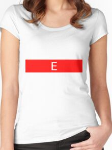 Alphabet Collection - Echo Red Women's Fitted Scoop T-Shirt