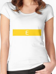 Alphabet Collection - Echo Yellow Women's Fitted Scoop T-Shirt