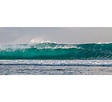 Double Whammy - Twin Waves Photographic Print