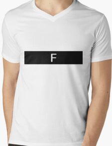 Alphabet Collection - Foxtrot Black Mens V-Neck T-Shirt