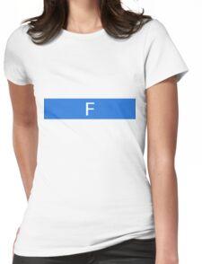 Alphabet Collection - Foxtrot Blue Womens Fitted T-Shirt