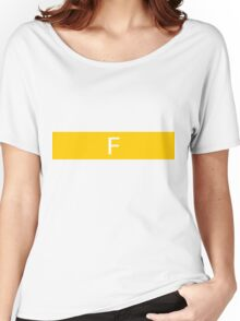 Alphabet Collection - Foxtrot Yellow Women's Relaxed Fit T-Shirt