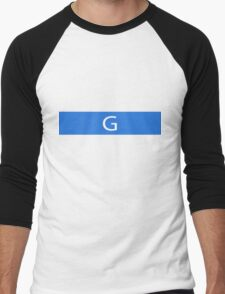 Alphabet Collection - Golf Blue Men's Baseball ¾ T-Shirt