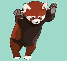Red Panda Excited by Nathanael Mortensen
