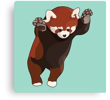 Red Panda Excited Canvas Print