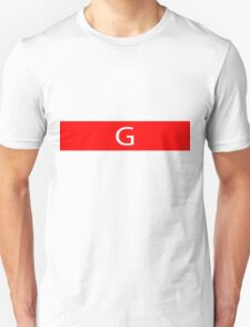 Alphabet Collection - Golf Red Unisex T-Shirt
