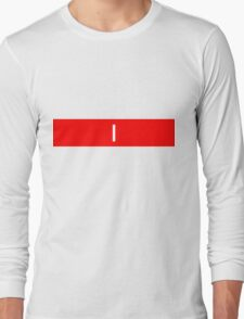 Alphabet Collection - India Red Long Sleeve T-Shirt