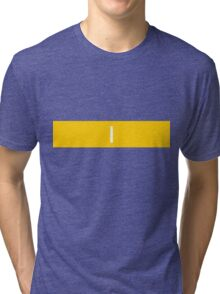 Alphabet Collection - India Yellow Tri-blend T-Shirt