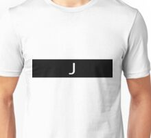 Alphabet Collection - Juliet Black Unisex T-Shirt