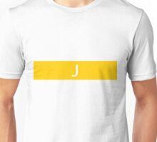 Alphabet Collection - Juliet Yellow Unisex T-Shirt