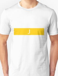 Alphabet Collection - Juliet Yellow T-Shirt