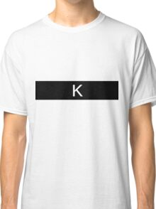 Alphabet Collection - Kilo Black Classic T-Shirt