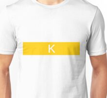 Alphabet Collection - Kilo Yellow Unisex T-Shirt
