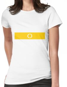 Alphabet Collection - Oscar Yellow Womens Fitted T-Shirt