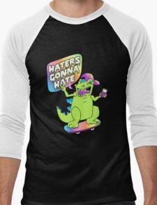 """Haters Gonna Hate"" Reptar (black) Men's Baseball ¾ T-Shirt"