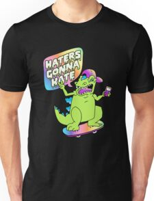 """""""Haters Gonna Hate"""" Reptar (black) Unisex T-Shirt"""