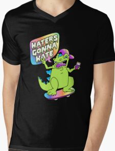 """Haters Gonna Hate"" Reptar (black) Mens V-Neck T-Shirt"