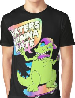 """Haters Gonna Hate"" Reptar (black) Graphic T-Shirt"
