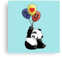 I Love You Panda Canvas Print