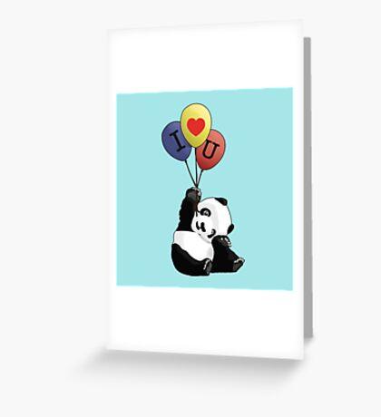 I Love You Panda Greeting Card