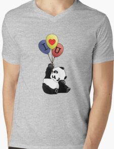 I Love You Panda Mens V-Neck T-Shirt