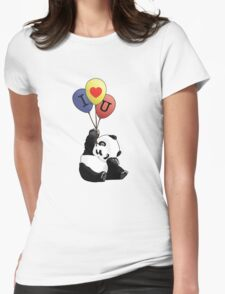I Love You Panda Womens Fitted T-Shirt