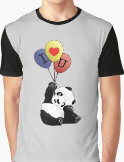 I Love You Panda Graphic T-Shirt