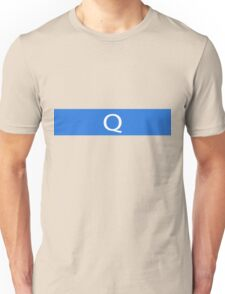 Alphabet Collection - Quebec Blue Unisex T-Shirt