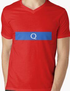 Alphabet Collection - Quebec Blue Mens V-Neck T-Shirt