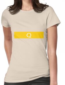 Alphabet Collection - Quebec Yellow Womens Fitted T-Shirt