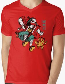 UKIYO-EMON TRAINER Mens V-Neck T-Shirt