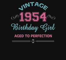 Vintage 1954 Birthday Girl Aged To Perfection Womens Fitted T-Shirt