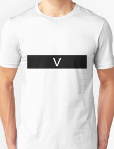 Alphabet Collection - Victor Black T-Shirt