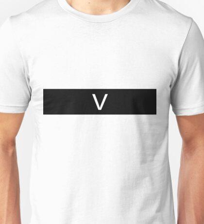 Alphabet Collection - Victor Black Unisex T-Shirt