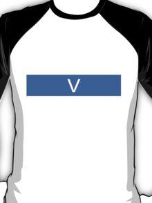 Alphabet Collection - Victor Blue T-Shirt
