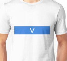 Alphabet Collection - Victor Blue Unisex T-Shirt