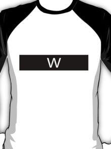 Alphabet Collection - Whiskey Black T-Shirt