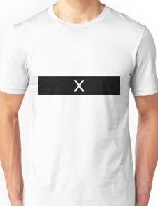 Alphabet Collection - X-Ray Black Unisex T-Shirt