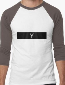 Alphabet Collection - Yankee Black Men's Baseball ¾ T-Shirt