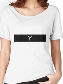 Alphabet Collection - Yankee Black Women's Relaxed Fit T-Shirt