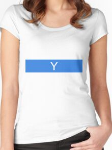 Alphabet Collection - Yankee Blue Women's Fitted Scoop T-Shirt