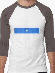 Alphabet Collection - Yankee Blue Men's Baseball ¾ T-Shirt