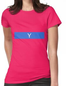 Alphabet Collection - Yankee Blue Womens Fitted T-Shirt