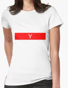 Alphabet Collection - Yankee Red Womens Fitted T-Shirt