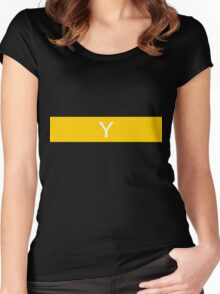 Alphabet Collection - Yankee Yellow Women's Fitted Scoop T-Shirt