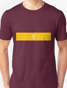 Alphabet Collection - Yankee Yellow Unisex T-Shirt