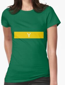 Alphabet Collection - Yankee Yellow Womens Fitted T-Shirt