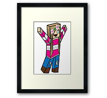 Minecraft character 02 Framed Print